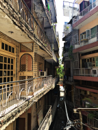 Die Nachbarschaft in Delhi