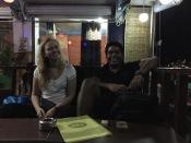 Meine zwei Reisebegleitungen Natalia & Santosh