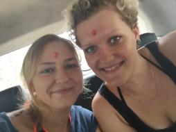 Wir waren im Tempel und haben den roten Punkt bekommen...