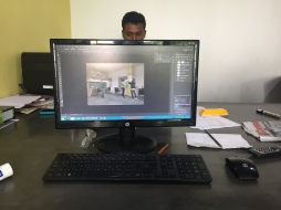 Mein Arbeitsplatz im Architekturbuero
