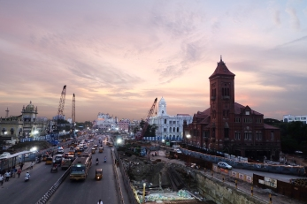 Der Himmel ueber Chennai