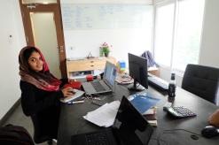Shaistha Amreen, meine Arbeitskollegin :)