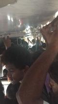 Der Bus war etwas voll.