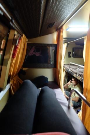 Mit dem Nachtbus von Chennai nach Bangalore.